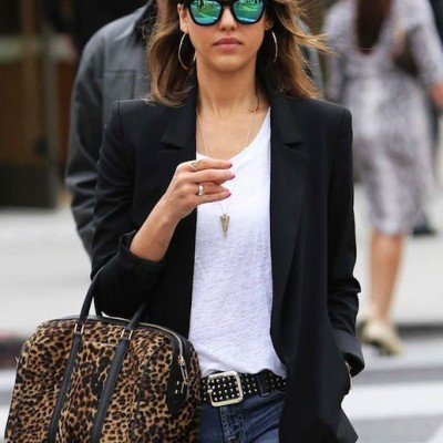 Black Blazer, White Tee Shirt