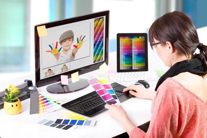Graphic art designColor samples.