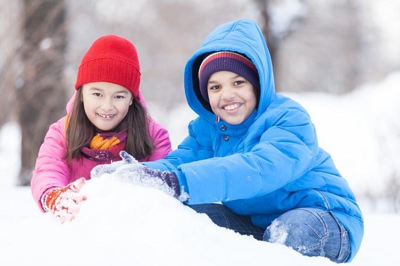 Build a snow village