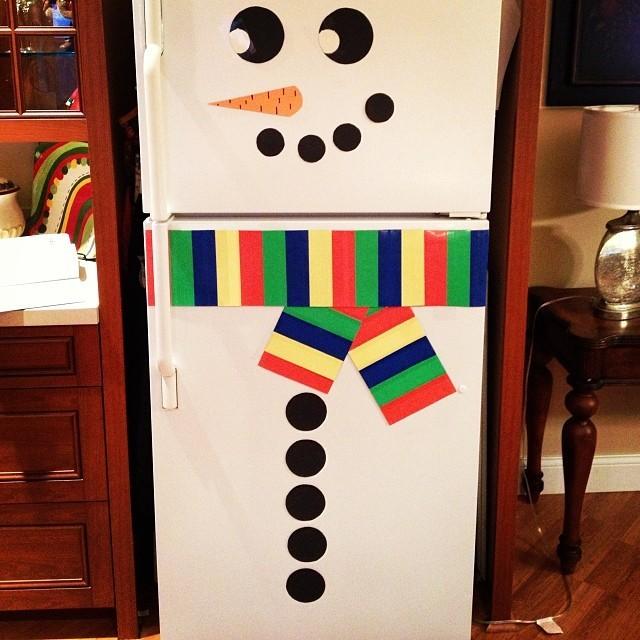 Frosty Snowman Fridge