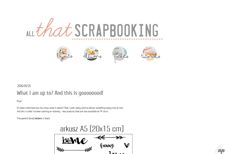 All That Scrapbooking
